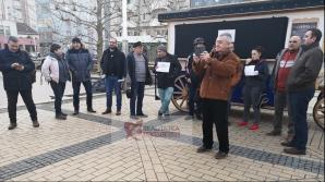 Protest la Satu Mare