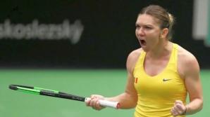 Simona Halep a făcut spectacol la Fed Cup. Și-a zdrobit adversara