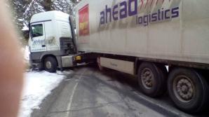 Accident grav în Harghita: Două TIR-uri s-au ciocnit