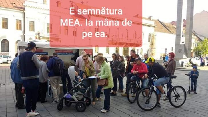 """Protest la Cluj pentru susţinerea iniţiativei """"Fără penali în funcţii publice"""""""