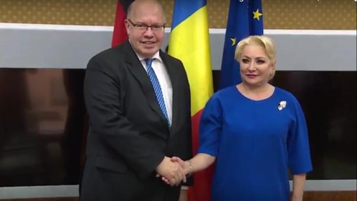 Viorica Dancilă, întâlnire cu ministrul Economiei din Germania