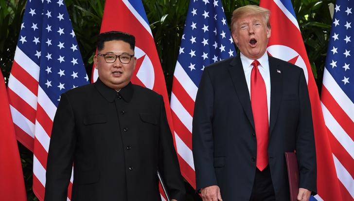 Kim Jong-un și Donald Trump