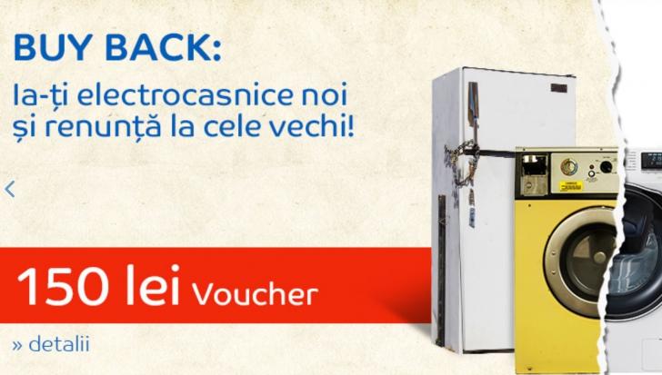 eMAG electrocasnice - BUY BACK - 150 de lei voucher