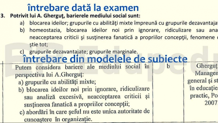 Eroare uriașă în Educație. S-au știut întrebările și răspunsurile înaintea examenului. Foto: edupedu.ro