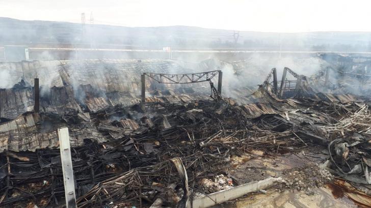 Urmările incendiului de la fabrica de condimente din Alba