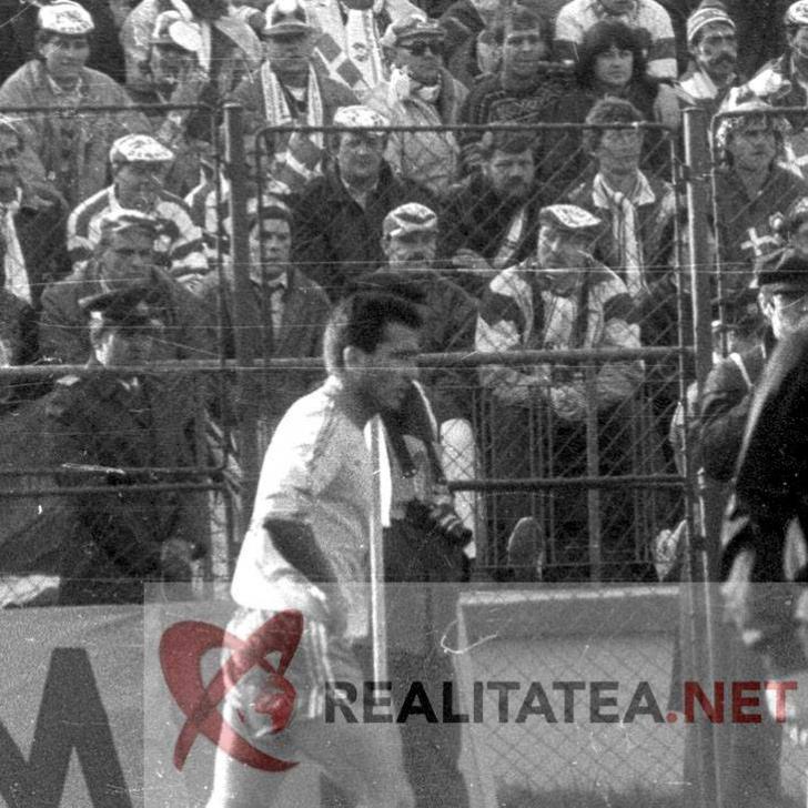 Hagi in tricoul Romaniei, in 1989. Arhiva: Cristian Otopeanu
