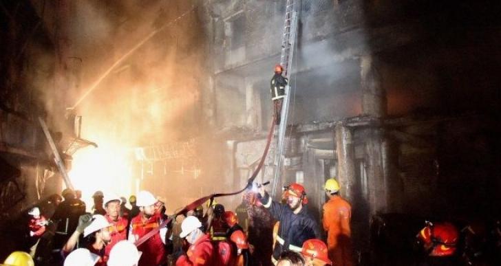 Incendiu violent în Bangladesh