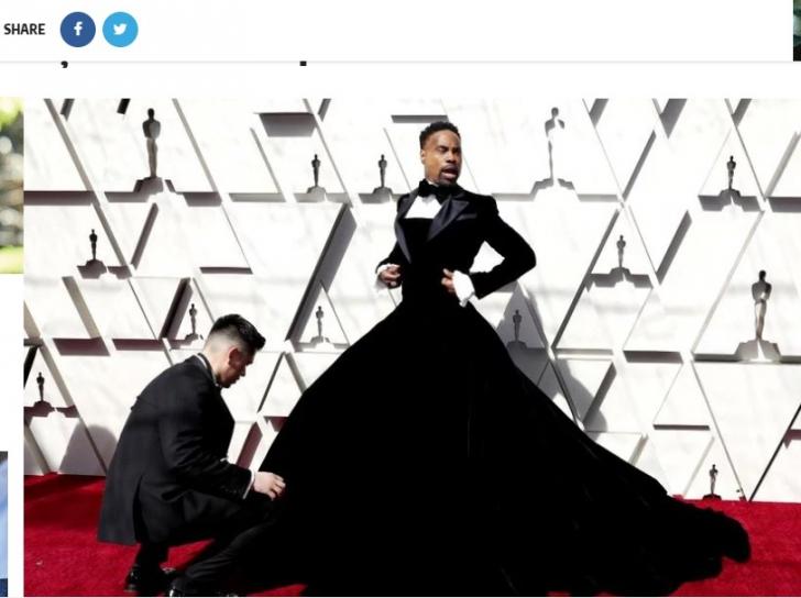 Ținuta care a șocat la Oscar