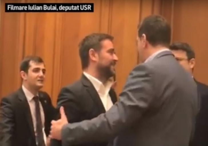 Pleşoianu (PSD), la un pas să se ia bătaie cu un deputat USR (VIDEO)