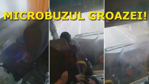 Un microbuz plin cu elevi navetiști, la un pas să ia foc în timpul mersului
