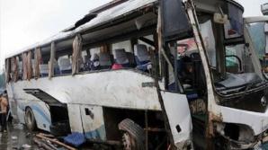 China: 26 de morţi în incendiul unui autocar