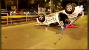 Accident grav în Capitală cu o maşină de poliţie