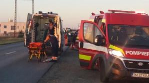 Mașină răsturnată, pe o șosea din Timiș: o victimă