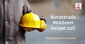 Gafă de comunicare la PSD: a anunțat că începe construirea Autostrăzii Moldovei cu o poză din Rusia