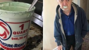 Povestea ireală a bunicului care a confundat vopseaua cu iaurt. Teribil ce a urmat!