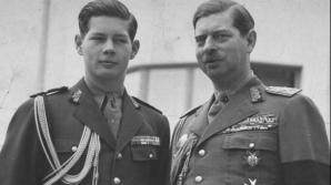 Carol II, lângă regele Mihai
