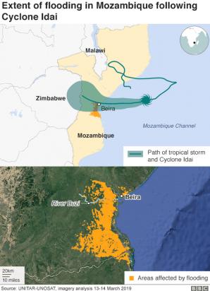 Ciclonul Idai a lovit sudul Africii