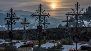 Un cimitir din Bistrița a luat-o la vale după începerea lucrărilor la stația de epurare / Foto: Arhivă