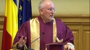 Frans Timmermans, discurs magistrat în România