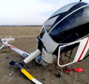 Incident aviatic, în județul Prahova: un elicopter s-a prăbușit