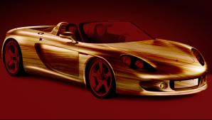 Mașina din lemn metalic, idee futuristă
