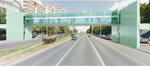 Simulare pe Google Maps: asa va arata pasarela pietonala de la Cora, Lujerului
