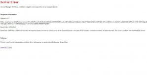 Site-ul ANAF este picat. Mesajul de eroare care apare pe www.anaf.ro