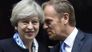 Theresa May și Donald Tusk