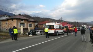 Accident grav în Bistrița: 8 persoane, între care doi copii, implicate. Impact nimicitor / Foto: bistriteanul.ro