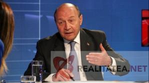 Traian Basescu, in studioul Realitatea TV. Foto: Cristian Otopeanu