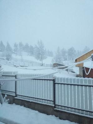 Zăpadă în martie, în Vrancea