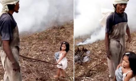 Povestea terifiantă a fetiței de 5 ani care-și duce tatăl la muncă. Ce secret teribil ascunde poza