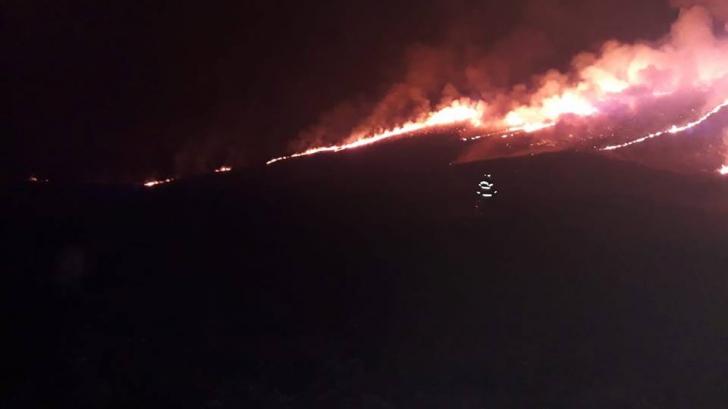 Incendiu de pădure și vegetație în Buzău