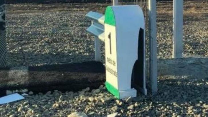 Autostrada lui Ștefan Mandachi a fost vandalizată