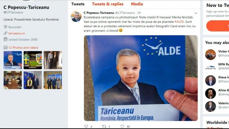 Prea mult Photoshop și un val de ironii la adresa lui Tăriceanu. Reacția șefului ALDE