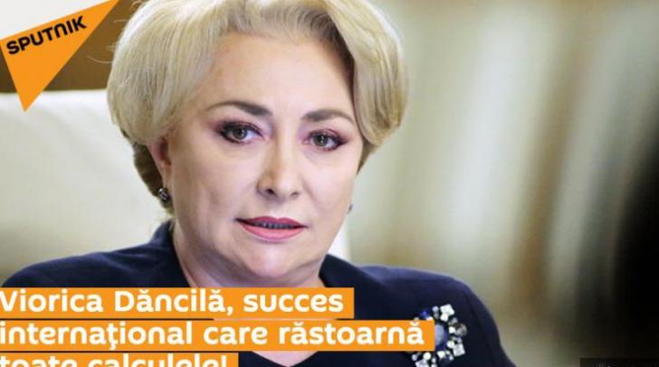 Dancila, elogiată în presa de orientare rusă