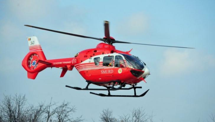 Intervenție cu elicopterul SMURD în Munții Făgăraș. Momente de coșmar pentru un tânăr. VIDEO