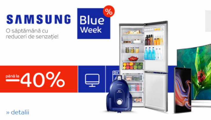 eMAG Samsung Blue Week - Reduceri de pana la 40%