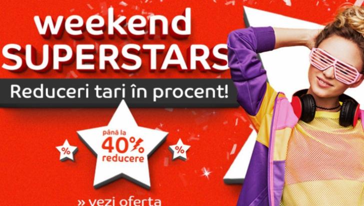 eMAG Weekend Superstars - Se intoarce o campanie puternica de reduceri, valabila numai in weekend