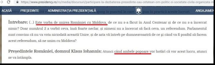 Iohannis, prins cu cioara vopsită după gafa cu moldovenii