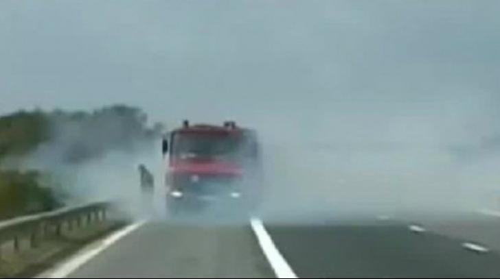 Incendiul de vegetație a blocat un drum național din Giurgiu. Foto/Arhivă