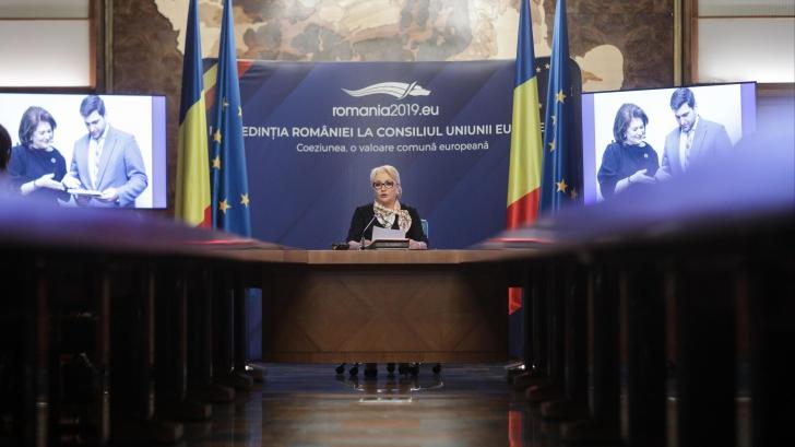 Dăncilă, la bilanțul Președinției României la Consiliul UE: Românii au de ce se mândri / Foto: Inquam Photos / George Calin