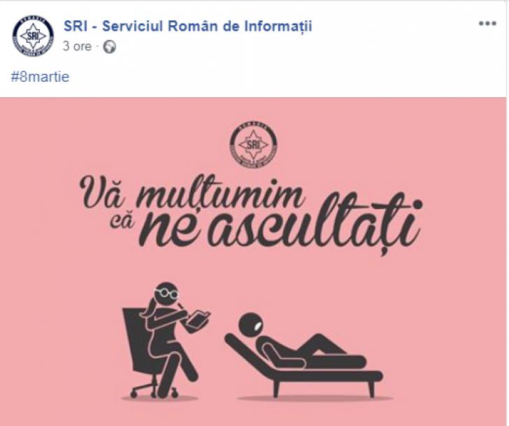8 Martie: Zâmbiţi, au postat Ministerul de Interne şi SRI