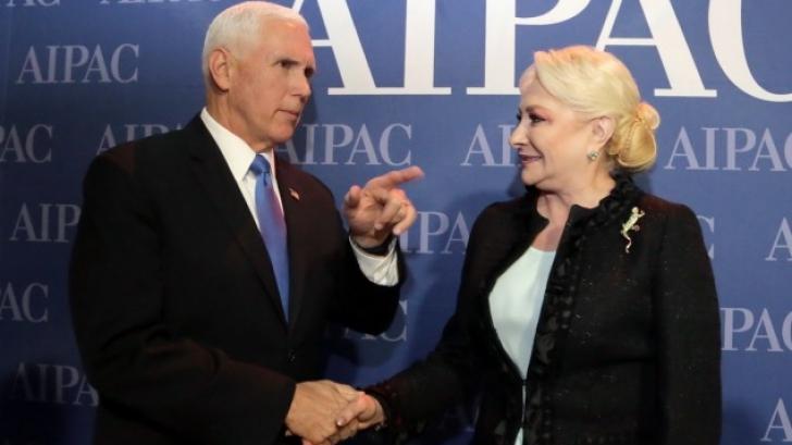 Dăncilă, întâlnire cu vice-președintele SUA, Mike Pence, la Washington / Foto: gov.ro