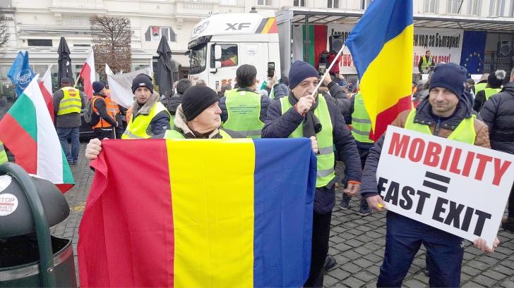 """Protestul transportatorilor a avut efect! UE amână proiectul """"Mobilitate1"""""""
