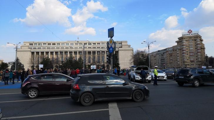 SIEU - Piața Victoriei este blocată