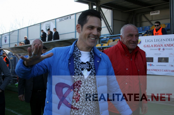 Stefan Banica, la meciul de old boys Dinamo - Steaua. Foto: Cristian Otopeanu