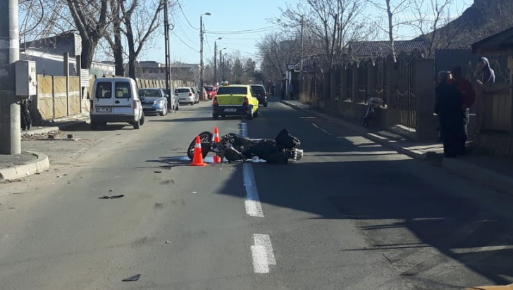 Tulcea: Un motociclist a murit într-un cumplit accident. Nu avea permis de conducere