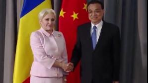 Viorica Dancila, întâlnire cu premierul Chinei