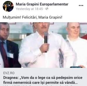 """Maria Grapini s-a felicitat singură pe Facebook: """"Felicitări, Maria Grapini!"""""""